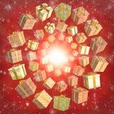 Caixas Multi-coloured Foto de Stock Royalty Free