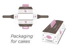 Caixas para o bolo Foto de Stock