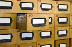 Caixas para um arquivo de cartão Imagem de Stock Royalty Free