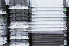 Caixas plásticas do totalizador fotos de stock