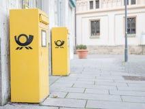 Caixas postais alemãs Foto de Stock