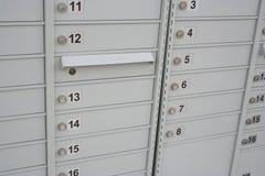 Caixas postais da comunidade fotografia de stock