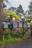 Caixas postais da vizinhança fotos de stock