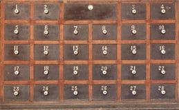 Caixas postais de madeira fotos de stock royalty free