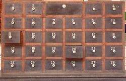 Caixas postais de madeira imagem de stock royalty free