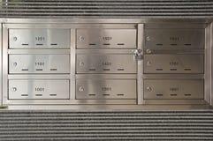 Caixas postais do apartamento Fotografia de Stock