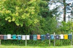 Caixas postais em seguido Imagens de Stock Royalty Free