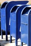 Caixas postais em uma fileira Imagens de Stock