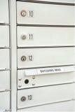 Caixas postais empilhadas Fotos de Stock