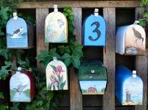 Caixas postais pintadas Imagem de Stock
