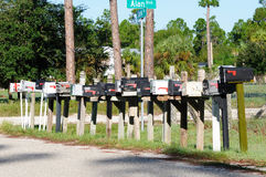 Caixas postais rurais imagens de stock