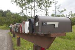 Caixas postais rurais Fotografia de Stock