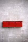 Caixas postais vermelhas Fotos de Stock