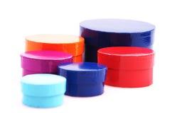 Caixas redondas coloridas Imagens de Stock Royalty Free