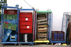 Caixas vegetais Fotos de Stock