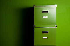 Caixas verdes foto de stock royalty free