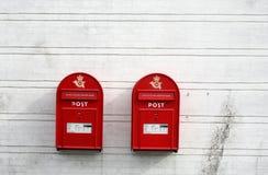 Caixas vermelhas do borne Fotografia de Stock Royalty Free