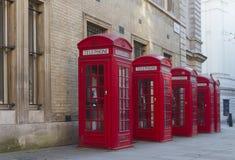 Caixas vermelhas do telefone Fotografia de Stock