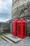 Caixas vermelhas do telefone Fotos de Stock Royalty Free