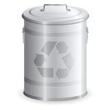 Caixote de lixo do metal Ilustração Royalty Free
