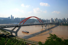 Caiyuanba Yangtze River Bridge in Chongqing Stock Photos