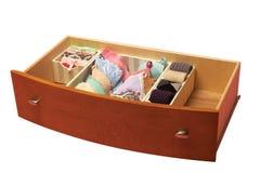 Cajón con los calcetines clasificados, Imagen de archivo libre de regalías