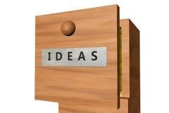 Cajón con los documentos de las ideas Imagen de archivo