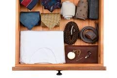 Cajón con ropa y accesorios Foto de archivo