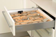 Cajón de la cocina Foto de archivo libre de regalías