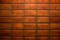 Cajón de la medicina china foto de archivo libre de regalías