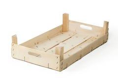 Cajón de madera vacío Fotos de archivo