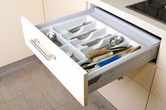 Cajón ordenado de la cocina Imágenes de archivo libres de regalías
