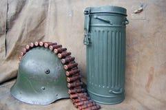 Caja alemana para la careta antigás. Fotografía de archivo libre de regalías