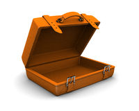 Caja anaranjada del recorrido Fotos de archivo libres de regalías