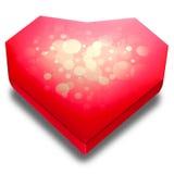 Caja bajo la forma de corazón Fotografía de archivo libre de regalías