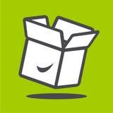 Caja blanca del vector Fotografía de archivo