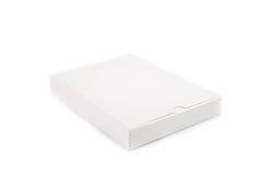 Caja blanca en blanco Fotografía de archivo libre de regalías