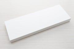 Caja blanca para la mofa para arriba foto de archivo