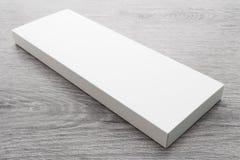 Caja blanca para la mofa para arriba imagenes de archivo