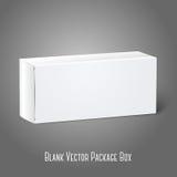 Caja blanca realista del paquete del papel en blanco Aislado Foto de archivo libre de regalías