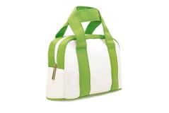 Caja blanca y verde del maquillaje Imagenes de archivo