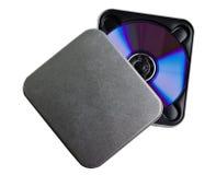 Caja CD del metal de DVD Imagen de archivo
