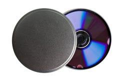 Caja CD del metal de DVD Imagen de archivo libre de regalías