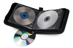 Caja CD en un fondo blanco Imágenes de archivo libres de regalías