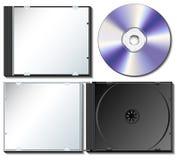 Caja CD fijada con CD Imágenes de archivo libres de regalías