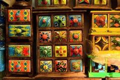 Caja colorida fotografía de archivo