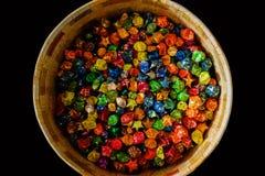 Caja colorida de los chocolates Fotografía de archivo