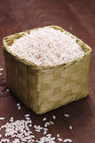 Caja con arroz Fotografía de archivo