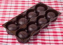 Caja con los chocolates Fotografía de archivo