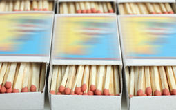 Caja con los partidos Fotos de archivo libres de regalías